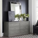 French Grey Martinique 6 Drawer Dresser Product Image