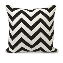 Chevron Black and White Embroidered Pillow