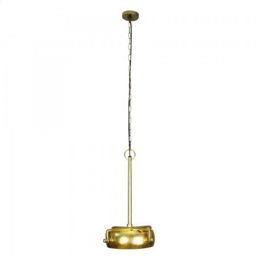 One Light Pendant in Natural Brass Finish in Smal