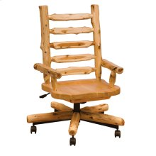 Executive Chair Natural Cedar, Wood Seat