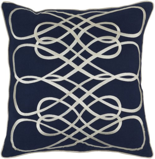 """Leah LAH-001 22"""" x 22"""" Pillow Shell with Down Insert"""
