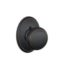 Andover Knob with Wakefield trim Non-turning Lock - Aged Bronze