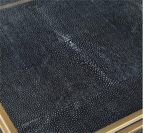 Seraphina Grand Tray - Charcoal Shagreen