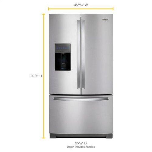 Whirlpool® 36-inch Wide French Door Refrigerator - 27 cu. ft. - Fingerprint Resistant Stainless Steel