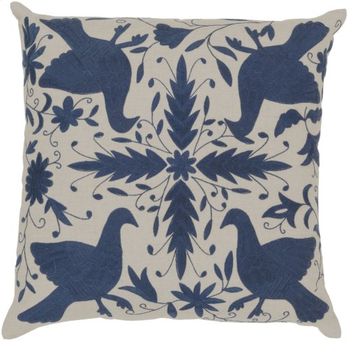 "Otomi LD-020 22"" x 22"" Pillow Shell with Down Insert"