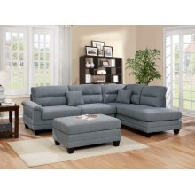 F6585 / Cat.19.p9- 3PCS SECTIONAL GREY