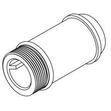 """Commercial 2-3/4"""" delany supply extension nipple"""