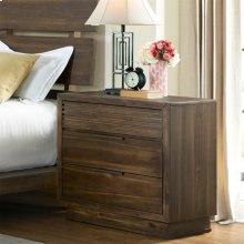 Modern Gatherings Two - Three Drawer Nightstand - Brushed Acacia Finish