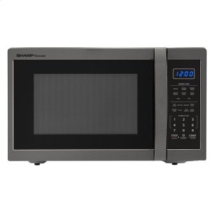 1.4 cu. ft. 1100W Sharp Black Stainless Steel Countertop Microwave Oven -