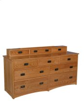Prairie Mission 7-Drawer Dresser, Medium