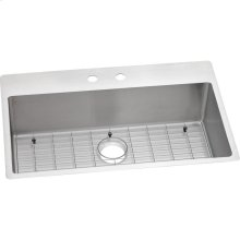 "Elkay Crosstown Stainless Steel 33"" x 22"" x 9"", Single Bowl Dual Mount Sink Kit"