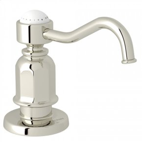 Polished Nickel Perrin & Rowe Traditional Deck Mount Soap Dispenser