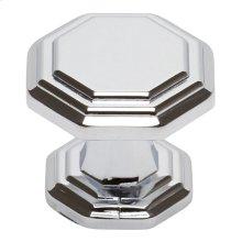 Dickinson Octagon Knob 1 1/4 Inch - Polished Chrome