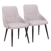 Alden Dining Chair - Set Of 2 - Black Metal, Grey Pu Product Image