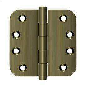 """4""""x 4""""x 5/8"""" Radius Hinges - Antique Brass"""