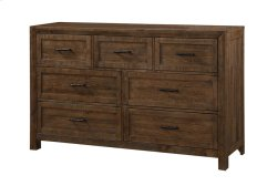 7 Drawer Dresser-burnished Pine Finish Product Image