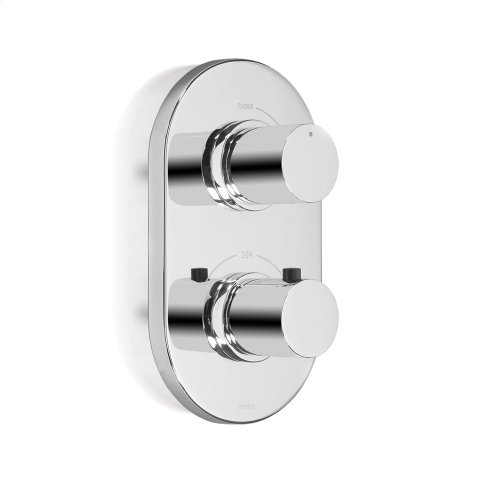 Nexus® Thermostatic Mixing Valve Trim with Single Volume Control - Polished Chrome Finish