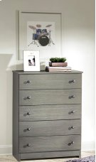 Gray 5 Drawer Chest Product Image