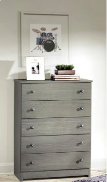 Gray 5 Drawer Chest