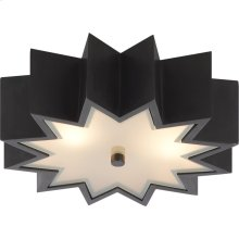 Visual Comfort AH4020GM-FG Alexa Hampton Odette 2 Light 15 inch Gun Metal Flush Mount Ceiling Light