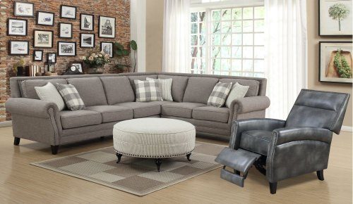 Emerald Home Wilow Creek 2pc Sectional Gray U4120-11-12-k