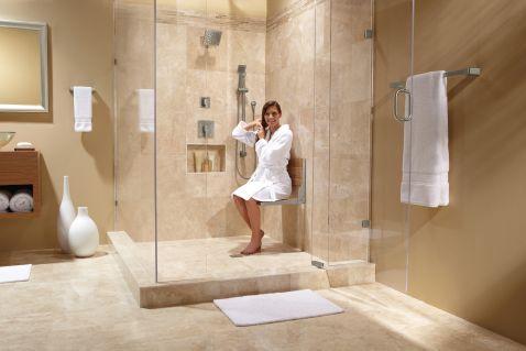 Exceptionnel Hidden · Additional Moen Home Care Teak Folding Shower Seat