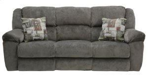 CATNAPPER 19445-2146 Transformer Seal Pewter Reclining Sofa With 3 Recliners And Drop Down Table