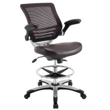 Edge Drafting Chair in Brown
