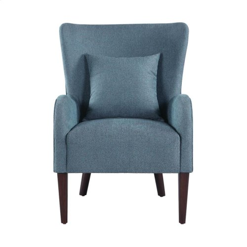 Dark Teal Winged Accent Chair