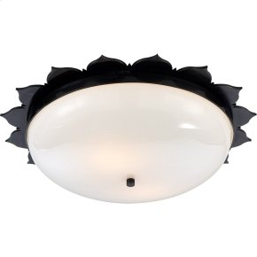 Visual Comfort AH4030GM-WG Alexa Hampton Rachel 2 Light 18 inch Gun Metal with Wax Flush Mount Ceiling Light