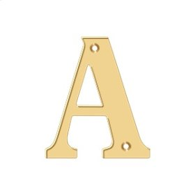 """4"""" Residential Letter A - PVD Polished Brass"""