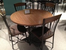 MAYFAIR ROUND PLANK TOP DINETTE TABLE