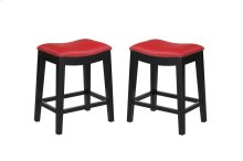 """Emerald Home Briar 24"""" Bar Stool Traditional Red D107-24-02"""