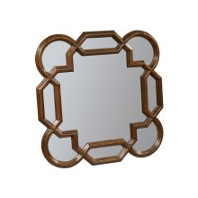 Vintage European Square Lattice Mirror
