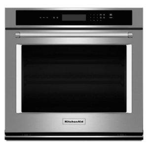 """KITCHENAID30"""" Single Wall Oven with Even-Heat Thermal Bake/Broil - Stainless Steel"""