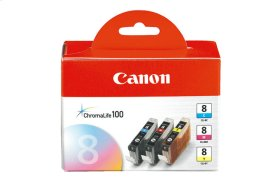Canon CLI-8 Cyan, Magenta & Yellow 3 Ink Pack CLI-8 3 Pack