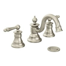 Waterhill brushed nickel two-handle bathroom faucet