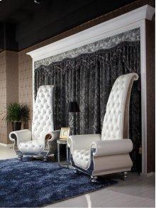 Divani Casa Luxe - Neo-Classical Pearl White Italian Leather Tall Chair
