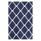 Marja Moroccan Trellis 5x8 Area Rug in Navy and Ivory Product Image