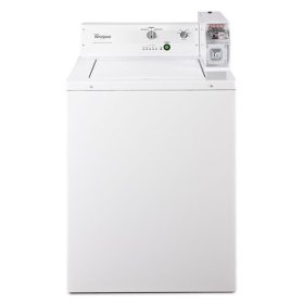 """Whirlpool® 27"""" Top-Load Commercial Washer - White"""