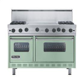 """Sage 48"""" Open Burner Range - VGIC (48"""" wide, four burners 24"""" wide griddle/simmer plate)"""
