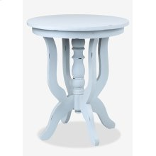 (LS) Promenade Round Side table- Antique Grey (24X24X28)