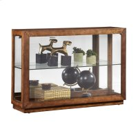 Side Entry Lighted Display Cabinet in Warm Poplar Brown Product Image