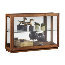 Side Entry Lighted Display Cabinet in Warm Poplar Brown
