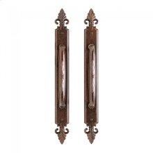 "Bordeaux Sliding Door Set - 2"" x 18 7/8"" Silicon Bronze Brushed"