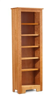 "Shaker Narrow Bookcase, Shaker Narrow Bookcase, 5-Adjustable Shelves, 25 1/2""w"