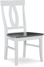 Verona Chair Heather Gray / White