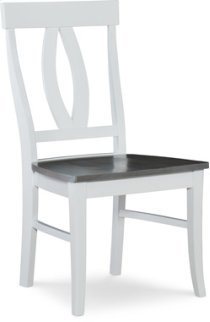 Verona Chair Heather Gray / White Product Image