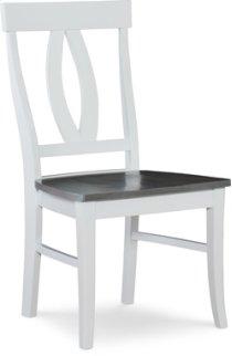Verona Chair Heather Gray / White Product Image
