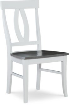 Verona Chair Heather Gray / White